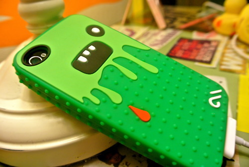 case, green, iphone, iphone 4, monsta case