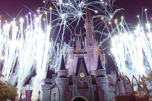 castle, disney, disneyland, fireworks, photography