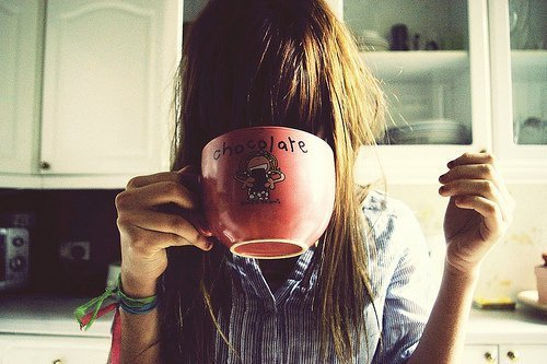 chocolate, cup, girl, nice, photography