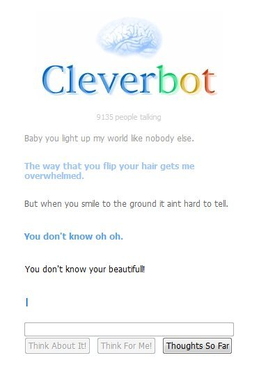 cleverbot, one direction, song