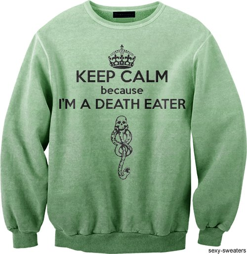 clothes, death eater, harry potter, keep calm, sexy sweaters