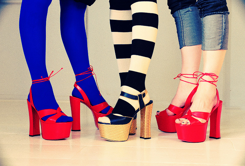 colorful, fashion, platform, shoes, shopping
