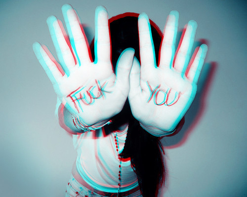 colors, fuck you, girl, hand, photo