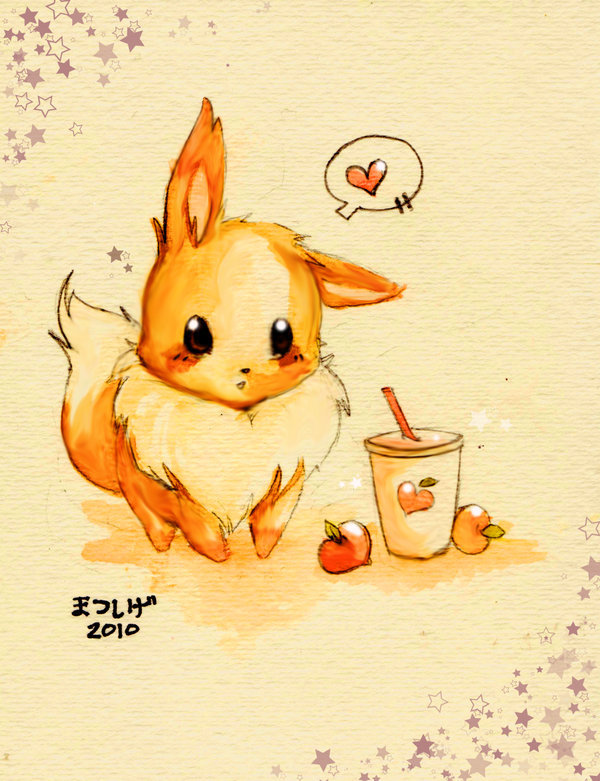Cute eevee fan art pokemon