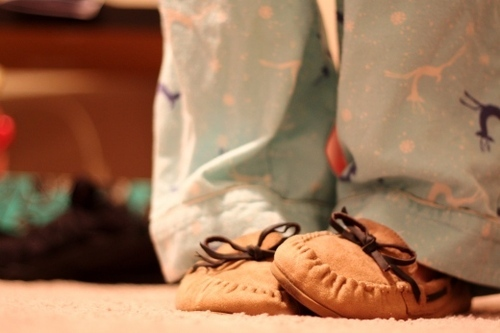 cute, girl, moccasins, pijama, shoes