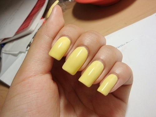 cute, nail polish, nails, photography, yellow, yellow nails