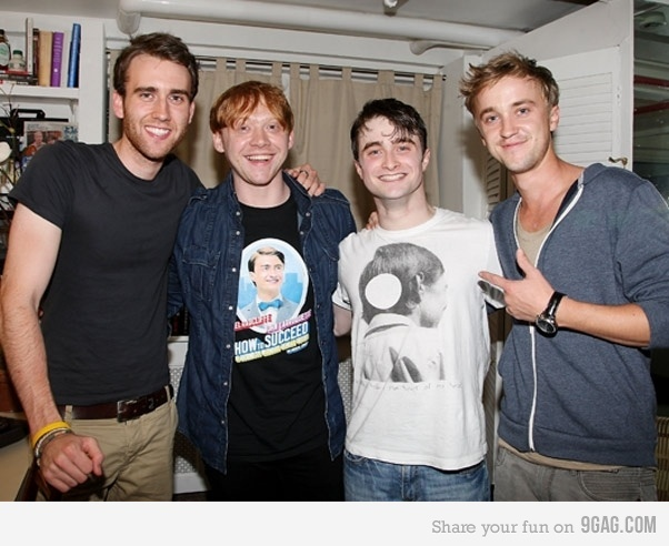 daniel radcliffe, draco malfoy, harry potter and neville