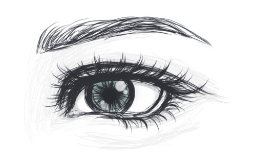 drawing, eye, eyes, green, pencil, sketch