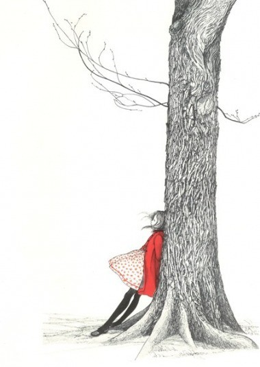 dress, esperanza, girl, hey, hope, illustration, peace, ramas, red, three, wind