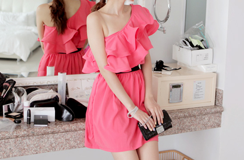 dress, fashion, handbag, lanvin for h&m, pink, ruffles