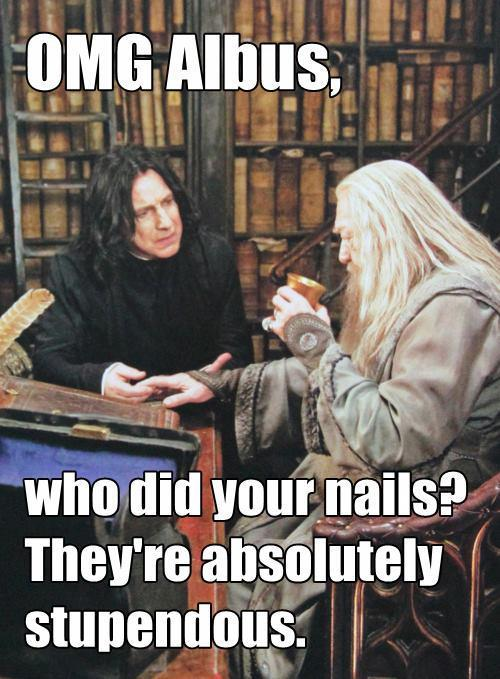 dumbledore, funny, harry potter, nails, potter