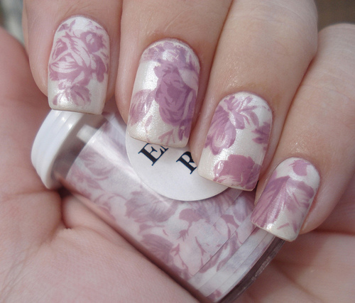 fashion, floral, girl, hand, hands, love, nail, nail varnish, pattern