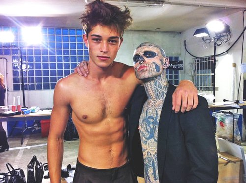 fashion, francisco lachowski, girl, guy, hot, skinny