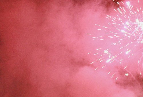 fireworks, light, new year, pink, smoke