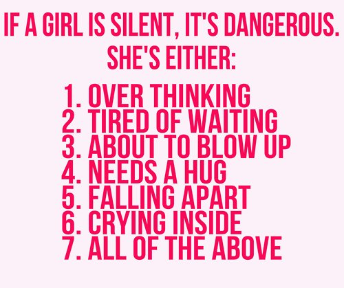 girl, girls, silent, text, true