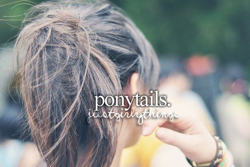 girl, hair, just girly things, justgirlythings, ponytail