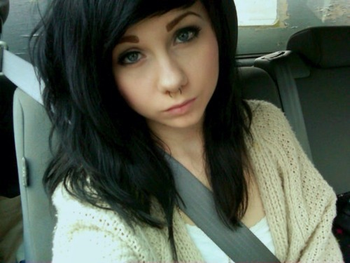 girl, piercing, septum