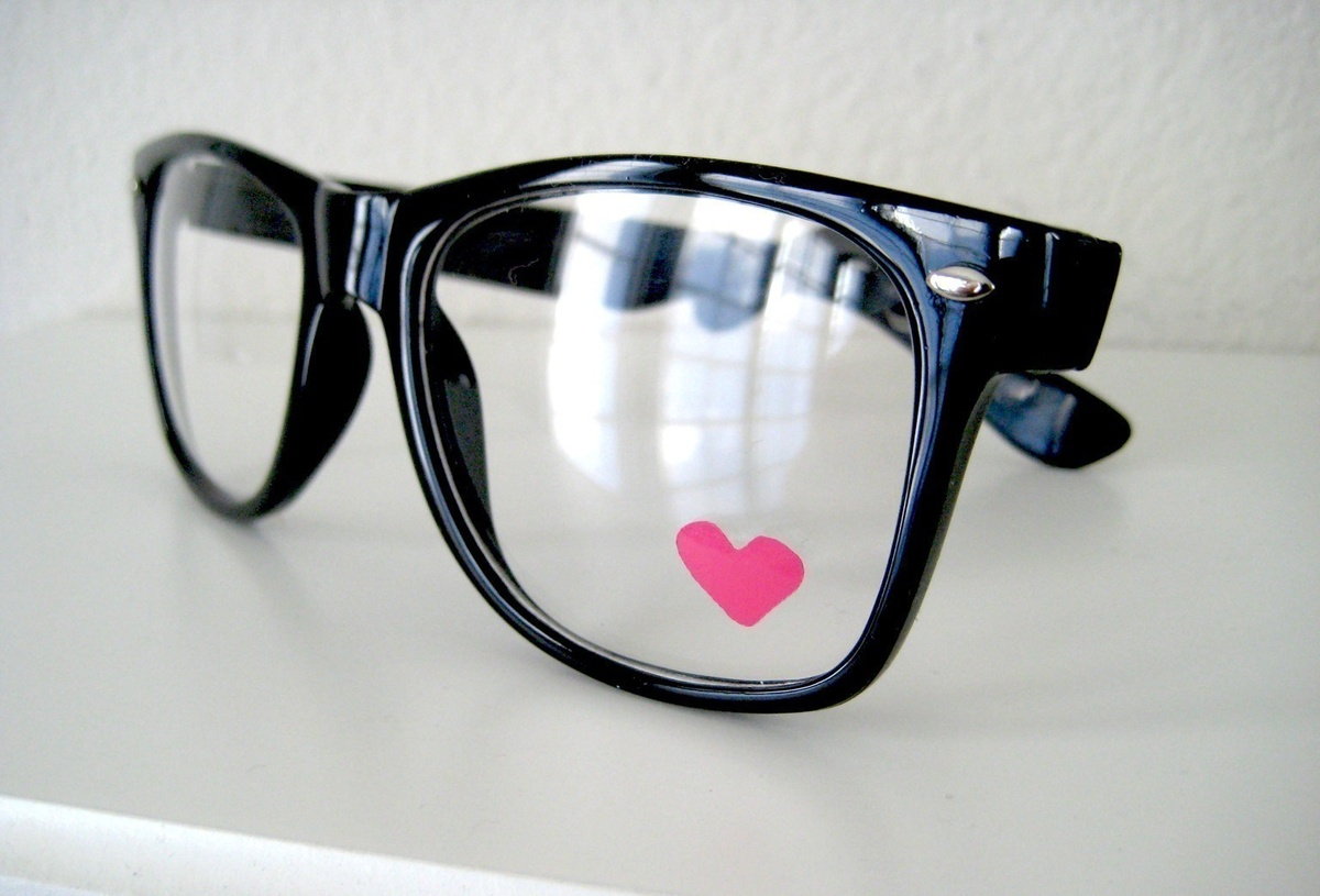 glasses, heart, nerd
