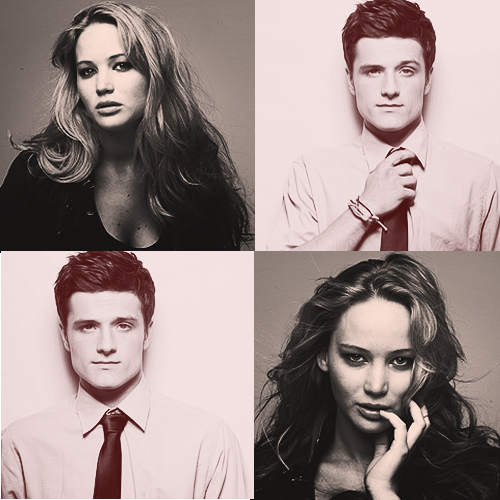 jennifer lawrence, josh hutcherson, the hanger games