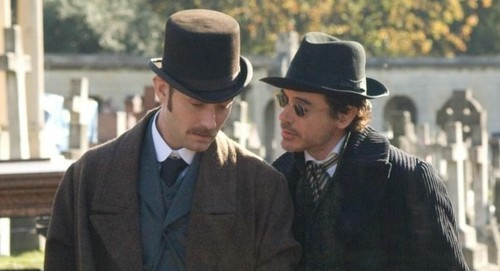 1800, 19th century, back in time, classy, hat, hugh jackman, jude law, old, sherlock holmes, vintage