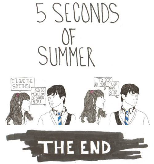 5 seconds of summer, 500 days of summer, drawing, funny, lol