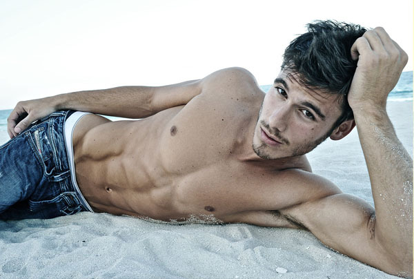 6 pack, 6pack, abs, beach, boy, guy, hot, model, ocean, sea, sexy, sixpack, tan