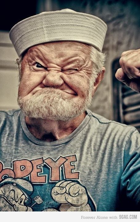 9gag, cool, eye, grandpa, joke, man, pepe, peper, photography, pic, popeye