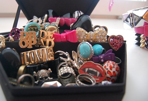 accessories, anel, bow, dropdead, fashion