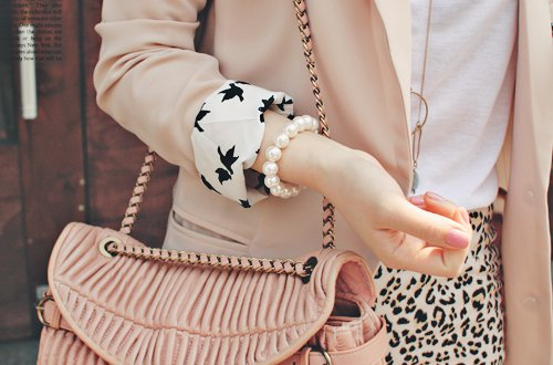 accessories, bag, blazer, fashion, leopard, miu miu, pink, purse, style, top, wallet, ysl, yves saint laurent