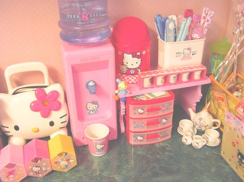 accessories, cute, hello kitty, pink
