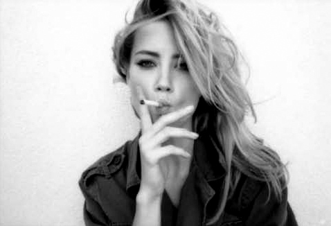 actress, amber heard, awesome, bad, beautiful, black and white, vintage, photography, hot, model, girl, yeah, celebrity, cool, thin, photo, cig, sexy, colourless, photograph, young, free, picture, cigarette, wild, skinny, smoking, blonde, hair, fashion