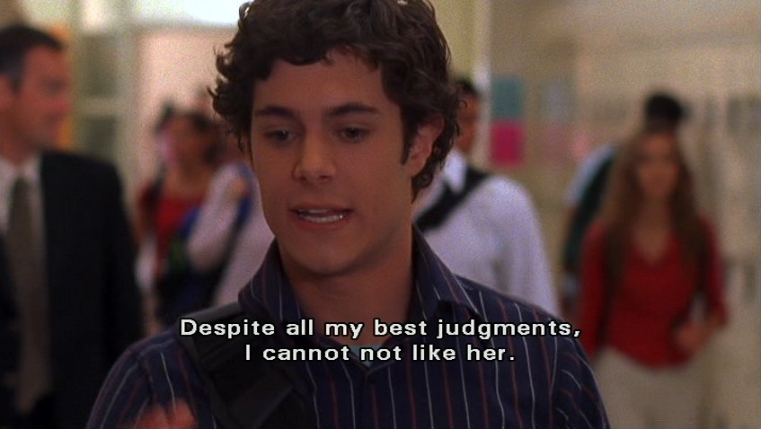 adam brody, funny, love, quote, seth cohen