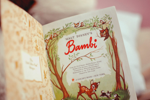 adorable, bambi, book, child, childhood, cute, deer, disney, love, paper, photography, story, vintage, walt disney