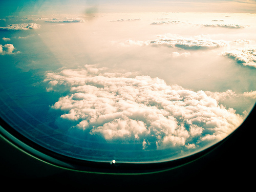 airplane, beautiful, blue, sky, white, window