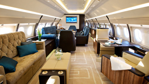 airplane, living, luxury, private jet