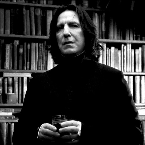 alan rickman, black, black and white, cool, fashion