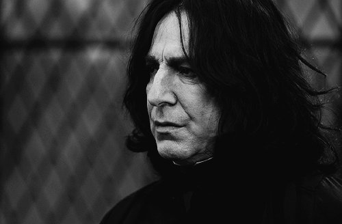alan rickman, black, harry potter, hero, sadness