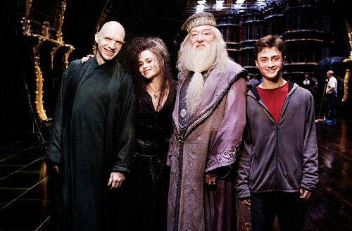 albus dumbledore, bellatrix, harry potter, voldemort