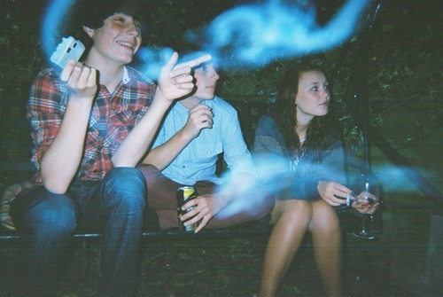 alcohol, boy, camera, dark, friends