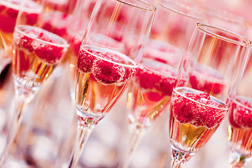 alcohol, champagne, champagne glasses, drink, drinks, raspberries, raspberry