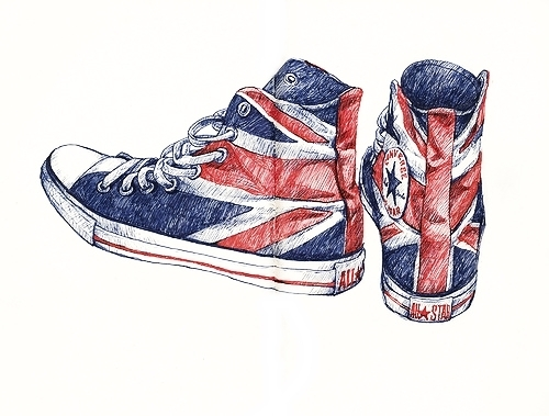 all star, converse, draw, drawing, england