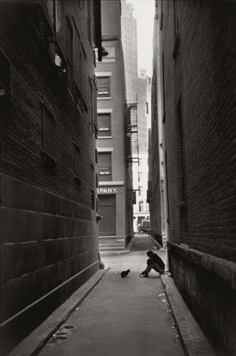 alone, black and white, new york, photography