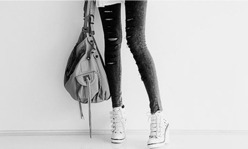 alternative, black and white, collant, fashion, girl