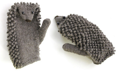 amazing, artistic, cold, cool, cosy, craft, cute, funny, gloves, grey, hedgehog, idea, ideas, interesting, knit, mitts, nice, winter