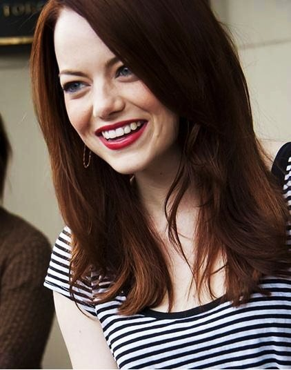 amazing, beautiful, black and white, emma jean stone, emma stone, girl, hair, lips, love you, smile