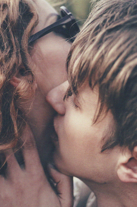 amazing, beautiful, boy, couple, girl, glasses, hot, kiss, kissing, love, sweet, vintage