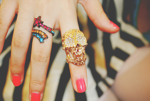 amazing, beautiful, fashion, girl, girly, gorgeous, jewellery, love it, nail polish, nails, pink, rings, style, wow
