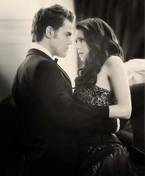 amazing, black and white, elena and stefan, elena gilbert, love, nina dobrev, paul wesley, stefan and elena, stefan salvatore, stelena, the vampire diaries, tvd