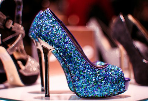 amazing, blue, color, fashion, girly, glitter, heels, love, sexy, shoes, silver