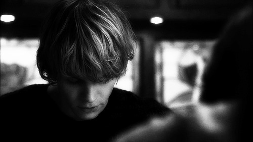 american horror story, beautiful, black and white, boy, tate langdon